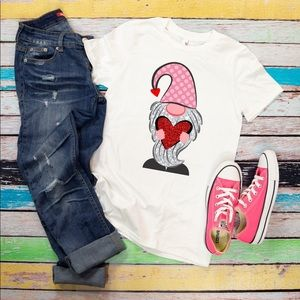 T Shirt Only!!! New Bella Canvas T. Gnome w/ Heart